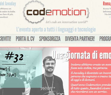 Yesterday Javaday, Codemotion is the key!